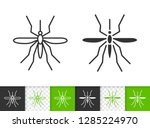 mosquito black linear and...   Shutterstock .eps vector #1285224970
