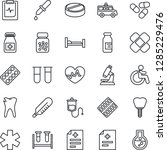thin line icon set   disabled... | Shutterstock .eps vector #1285229476