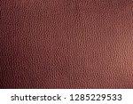 brown genuine leather texture   Shutterstock . vector #1285229533