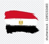 flag egypt from brush strokes.  ...