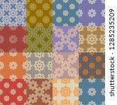 patchwork seamless pattern... | Shutterstock .eps vector #1285235209