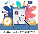 job hiring and online... | Shutterstock .eps vector #1285236769