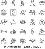 thin line icon set   male... | Shutterstock .eps vector #1285245229