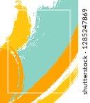 vertical frame with paint brush ...   Shutterstock .eps vector #1285247869