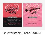 set of valentine's day... | Shutterstock .eps vector #1285253683