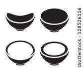 bowl icon  restaurant sign   Shutterstock .eps vector #128526116