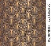 art deco pattern. seamless... | Shutterstock .eps vector #1285263820