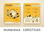 vector brochure template for... | Shutterstock .eps vector #1285272163