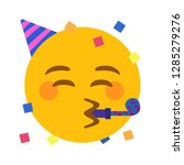 party face emoji vector | Shutterstock .eps vector #1285279276