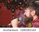 musician with beard and... | Shutterstock . vector #1285281163