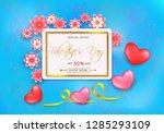 sale offer banner for... | Shutterstock .eps vector #1285293109