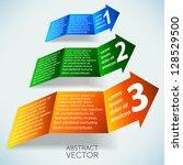 abstract vector arrows | Shutterstock .eps vector #128529500