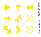 forward icons set with straight ... | Shutterstock .eps vector #1285299370