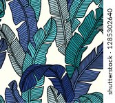 seamless pattern of tropical... | Shutterstock .eps vector #1285302640