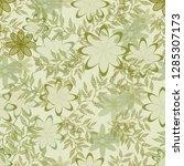 beige white  flowers lace... | Shutterstock .eps vector #1285307173