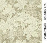 beige white  flowers lace... | Shutterstock .eps vector #1285307176