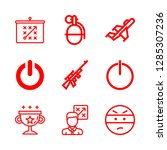 fight icons set with power ... | Shutterstock .eps vector #1285307236