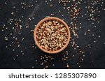 set of quinoa red  white and... | Shutterstock . vector #1285307890