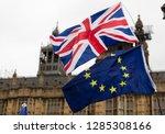 european union and british... | Shutterstock . vector #1285308166