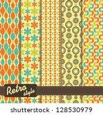 set of geometrical pattern in... | Shutterstock .eps vector #128530979