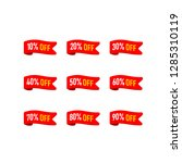 ribbons tags set with discount... | Shutterstock .eps vector #1285310119
