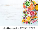 colorful candies  jelly and... | Shutterstock . vector #1285310299