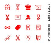 16 ribbon icons with year book... | Shutterstock .eps vector #1285311679