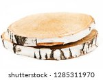 cut tree on white background.... | Shutterstock . vector #1285311970
