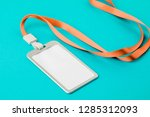 empty id card   icon with an... | Shutterstock . vector #1285312093