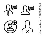 cellular icons set with user...