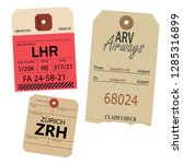Vintage Luggage Tags. Zurich...