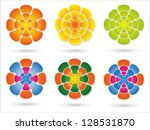 different combinations of... | Shutterstock . vector #128531870