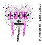 slogan look super girl    Shutterstock . vector #1285322623