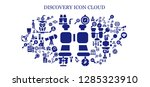 discovery icon set. 93 filled...   Shutterstock .eps vector #1285323910