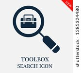 toolbox search icon. editable... | Shutterstock .eps vector #1285324480