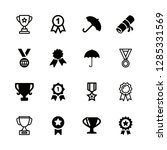 16 award icons with ribbon... | Shutterstock .eps vector #1285331569