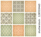 set of nine seamless pattern in ... | Shutterstock . vector #128533460