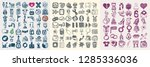 134 hand drawing doodle icon... | Shutterstock . vector #1285336036