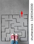 labyrinth. success  creative... | Shutterstock . vector #1285342030