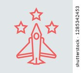 line icon fighter aircraft with ...   Shutterstock .eps vector #1285342453
