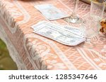 the ukrainian wedding tradition ... | Shutterstock . vector #1285347646