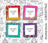 cartoon art styles. decorative... | Shutterstock .eps vector #1285357963