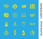 instrument icons set with... | Shutterstock .eps vector #1285358440