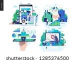 business series set  color 2... | Shutterstock .eps vector #1285376500
