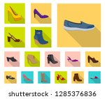 isolated object of footwear and ... | Shutterstock .eps vector #1285376836