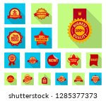 isolated object of  and  sign.... | Shutterstock .eps vector #1285377373