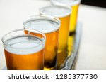 selective focus on the foamy... | Shutterstock . vector #1285377730