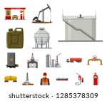 Vector Illustration Of Oil And...