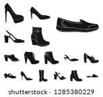 vector illustration of footwear ... | Shutterstock .eps vector #1285380229