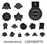 isolated object of  and  sign.... | Shutterstock .eps vector #1285380970